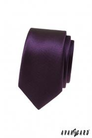 Dunkellila schmale Krawatte