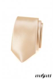 Schmale Krawatte in Ivory