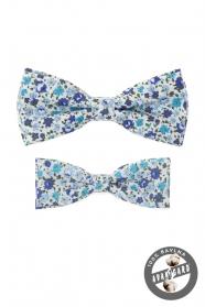 Set Baumwolle Fliegen mit blauem Blumenmuster