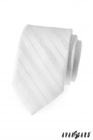 Krawatte weiß glänzende Linien