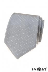 Graue Krawatte mit Punkten