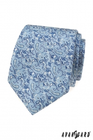 Blaue Krawatte mit elegantem Paisleymuster