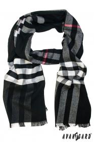 Schwarz gemusterter Schal