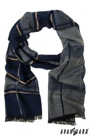 Herrenschal im blau-grauen Design