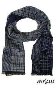 Blaugrau gestreifter Schal