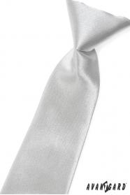 Jungen Kinder Krawatte silber Glanz