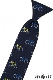 Blaue Kinderkrawatte 31 cm, farbiges Fahrrad